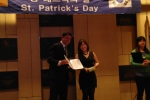 Mr. Conor O Reilly and 3rd place winner Ms. Choi Min Jeong