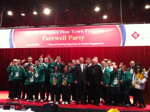 Irish Special Olympics delegates and guests at Seoul Women's University